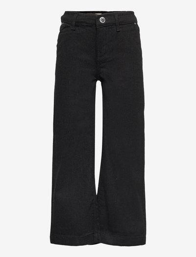 KONCOMET WIDE CROPPED DNM PIM BLACK - jeans - black