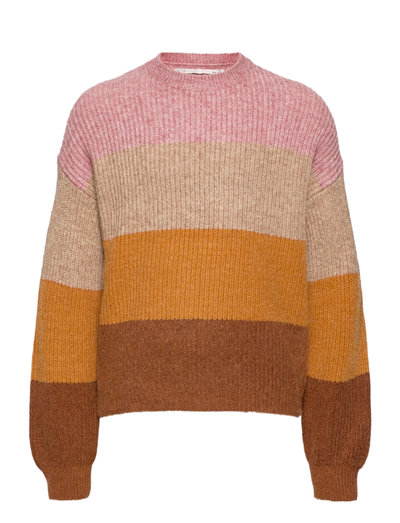 KONSANDY L/S STRIPE PULLOVER CP KNT - pullover - dusty rose