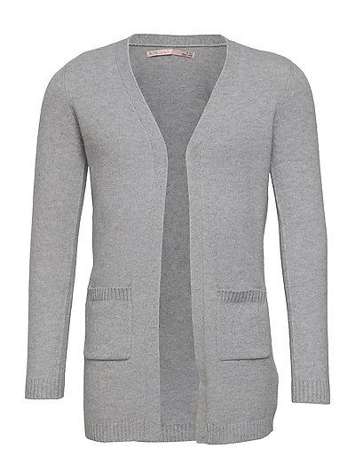 KONLESLY L/S OPEN CARDIGAN KNT - cardigans - light grey melange