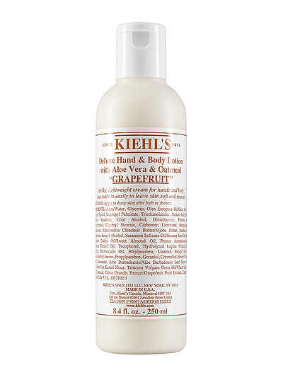 Deluxe Hand and Body Lotion with Aloe Vera and Oatmeal Grape - CLEAR