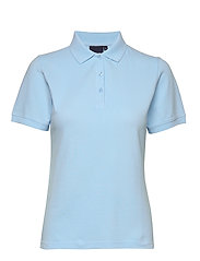 Penna women s/s pique polo - LIGHT BLUE