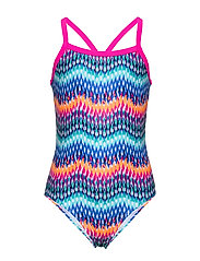 Gigi jr. swimsuit AOP - PINK GLO