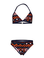 Olivia jr. bikini AOP - HOT CORAL
