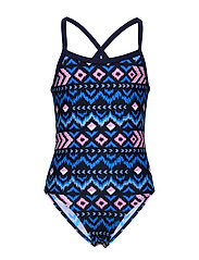 Oprah jr. swimsuit AOP - BLUE ASTER