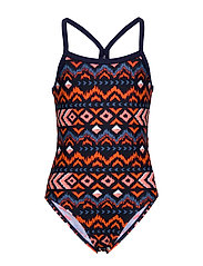 Oprah jr. swimsuit AOP - HOT CORAL
