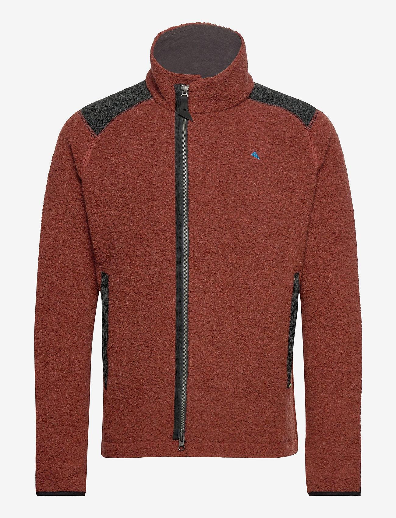 Klättermusen - Skoll Zip M's - basic-sweatshirts - dark rust - 0