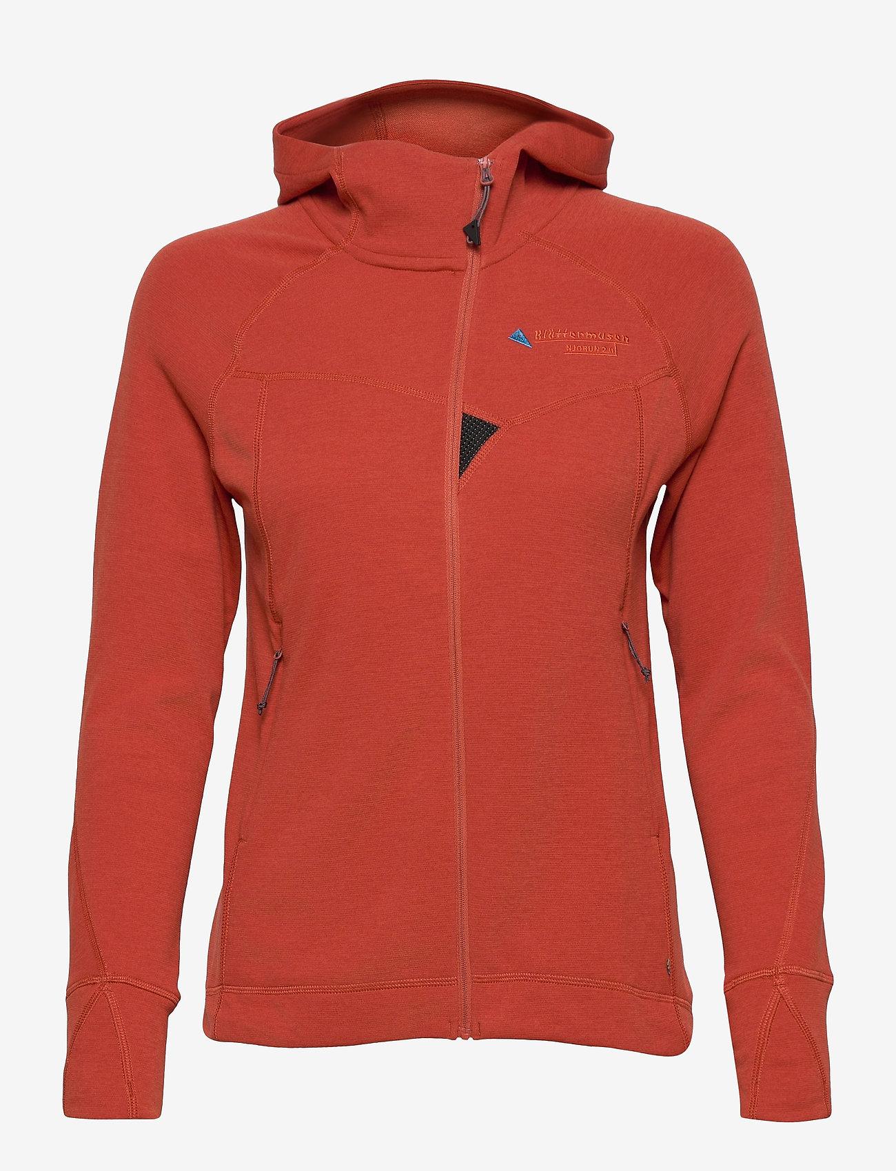 Klättermusen - Njorun 2.0 Hoodie W's - sweatshirts en hoodies - dark redwood - 0