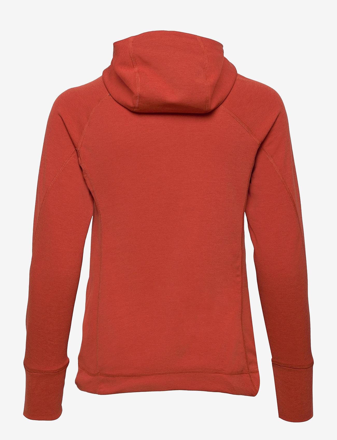 Klättermusen - Njorun 2.0 Hoodie W's - sweatshirts en hoodies - dark redwood - 1