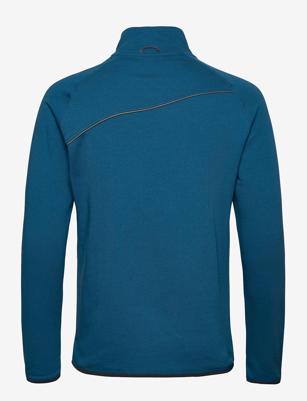 Klättermusen - Falen Zip M's - basic-sweatshirts - blue sapphire - 1