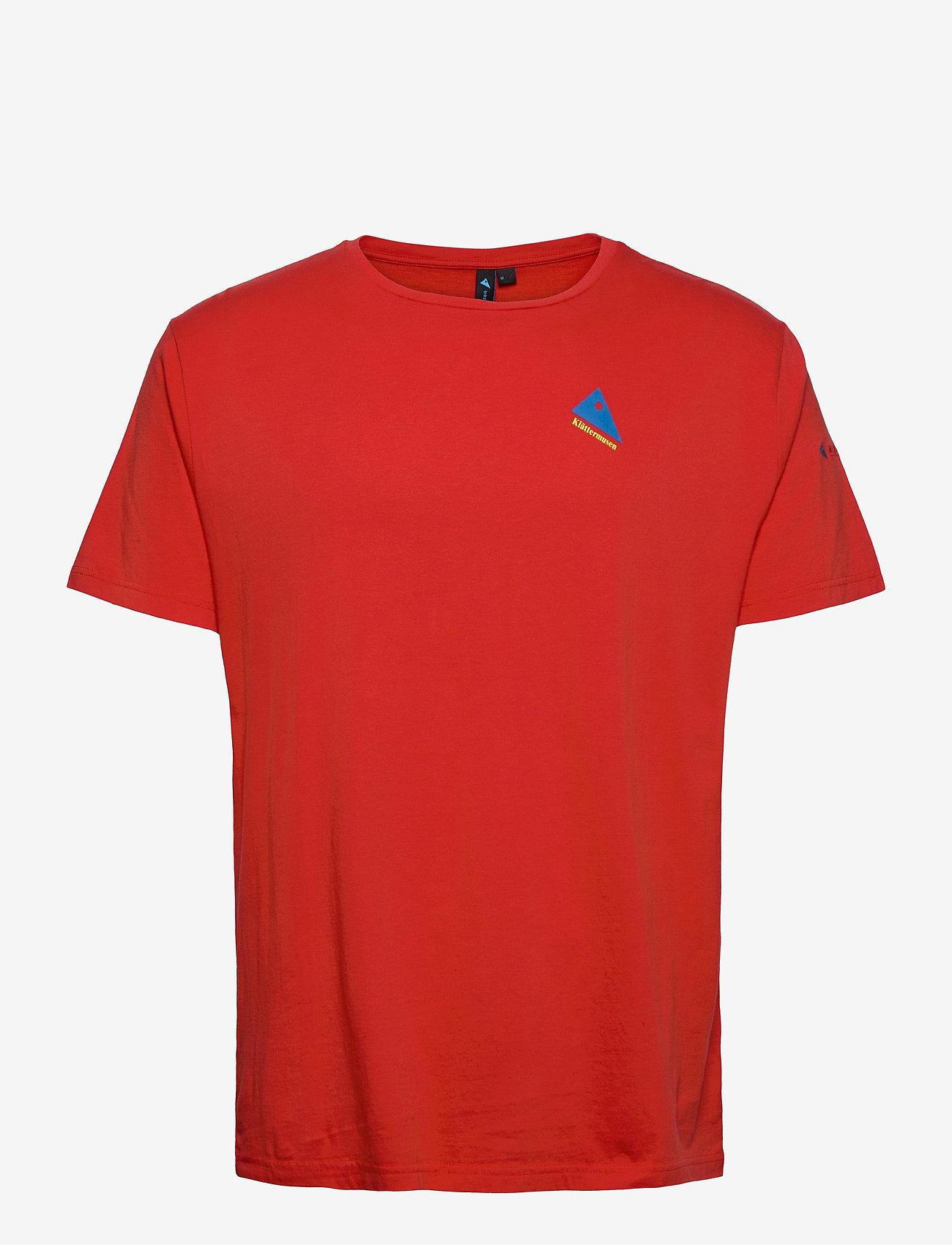 Klättermusen - Verkstad 1980 SS Tee M's - t-shirts à manches courtes - molten lava - 0