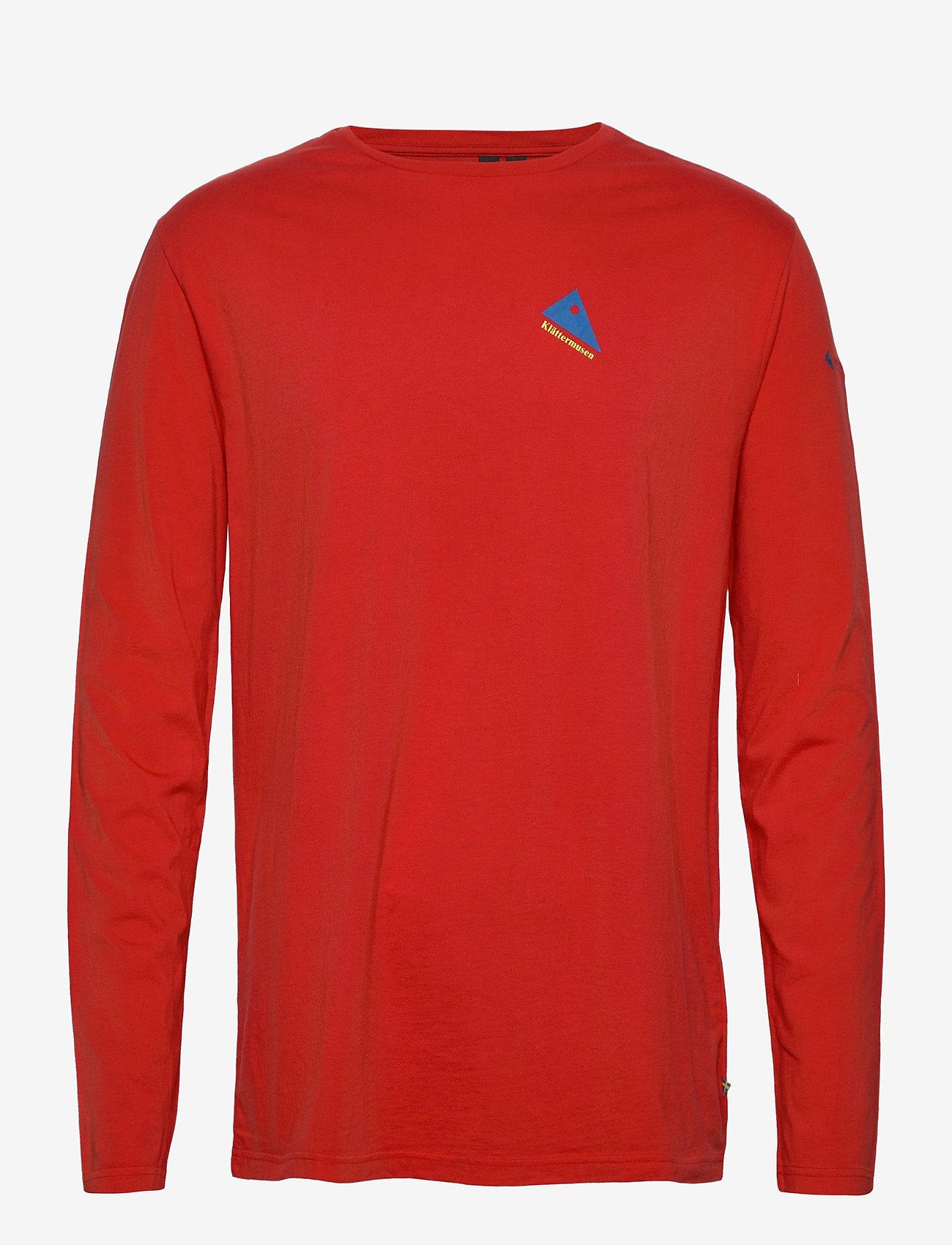 Klättermusen - Verkstad 1980 LS Tee M's - t-shirts à manches longues - molten lava - 0