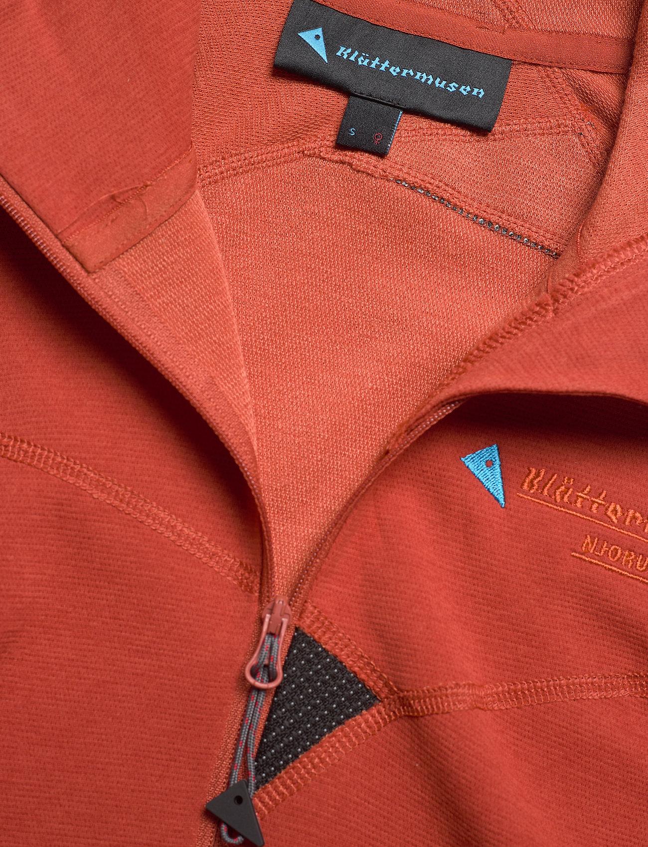 Klättermusen - Njorun 2.0 Hoodie W's - sweatshirts & hoodies - dark redwood - 2