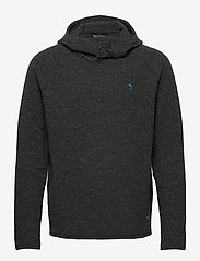 Klättermusen - Falen Wooly Hoodie M's - basic-sweatshirts - raven - 0