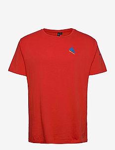 Verkstad 1980 SS Tee M's - kortærmede t-shirts - molten lava