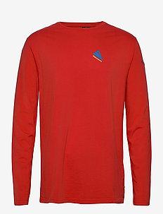 Verkstad 1980 LS Tee M's - langærmede t-shirts - molten lava