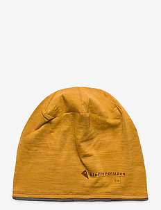 Eir Beanie - hats - dark honey-grey melange