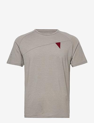 Fafne S/S Tee M's - kortærmede t-shirts - grey melange