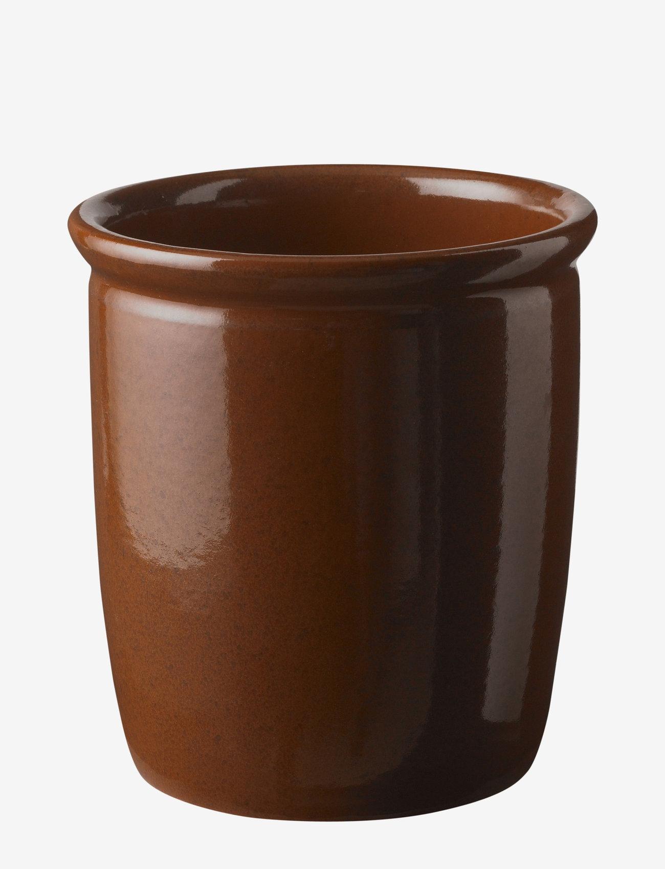 Knabstrup Keramik - Pickle jar - tarjoilukulhot - brown - 0