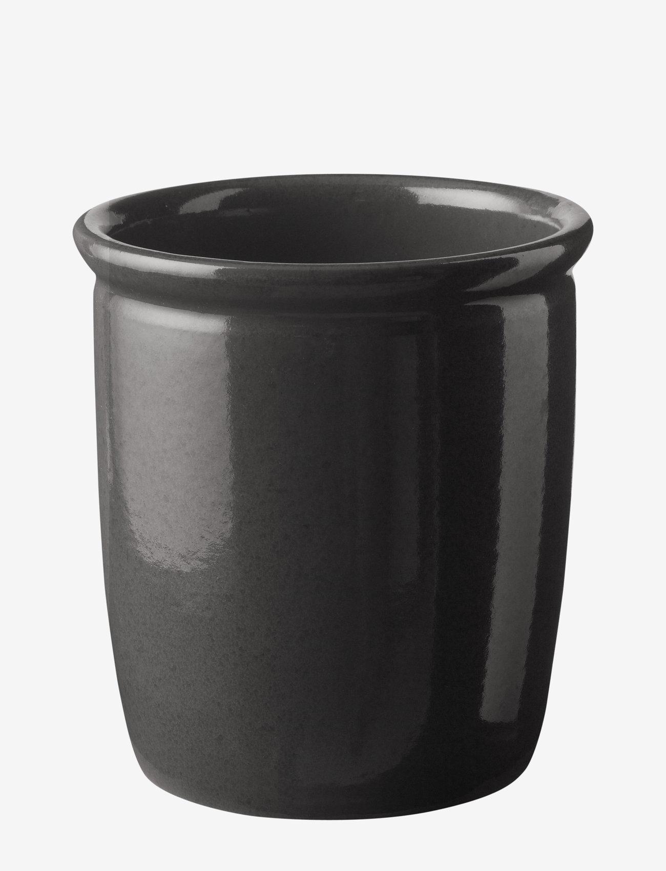 Knabstrup Keramik - Pickle jar - ruukut - anthracite grey - 1