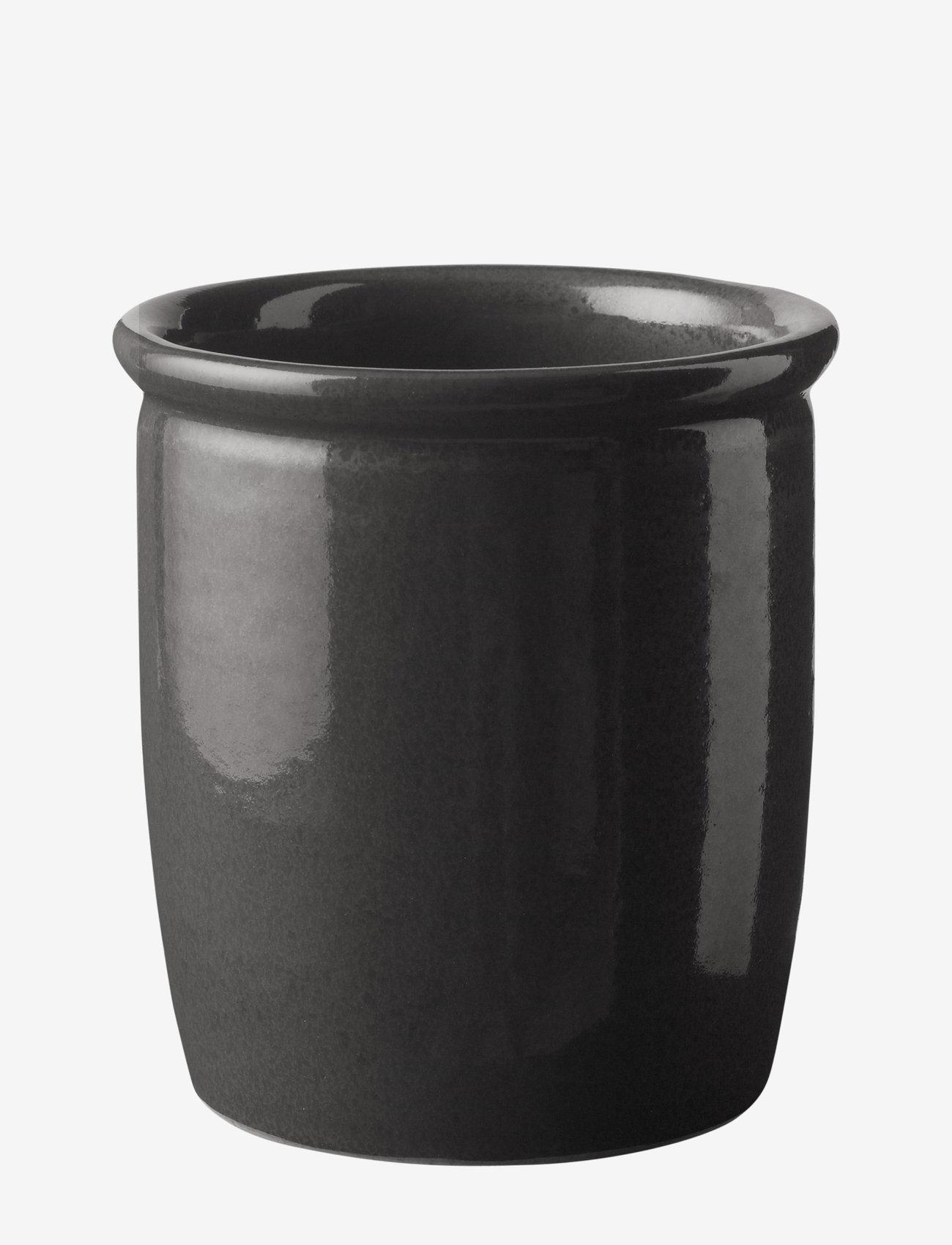 Knabstrup Keramik - Syltekrukke - serveringsskåler - anthracite grey - 0