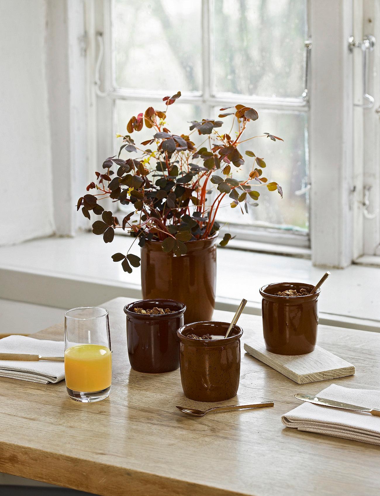 Knabstrup Keramik - Pickle jar, 3-pack - kulhot & tarjoiluastiat - light brown, brown, bordeaux - 1