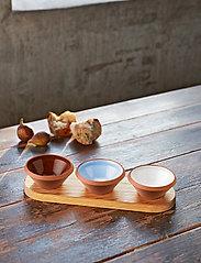 Knabstrup Keramik - Dough dish, 3-pack - tapas-laudat ja -setit - light grey, light blue, terracotta - 0