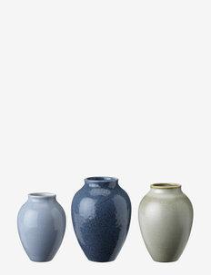 Knabstrup vase, 3-pack - maljakot - dark blue, light blue, olive green