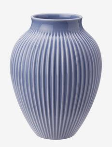 Knabstrup vase with ridges - maljakot - lavender blue