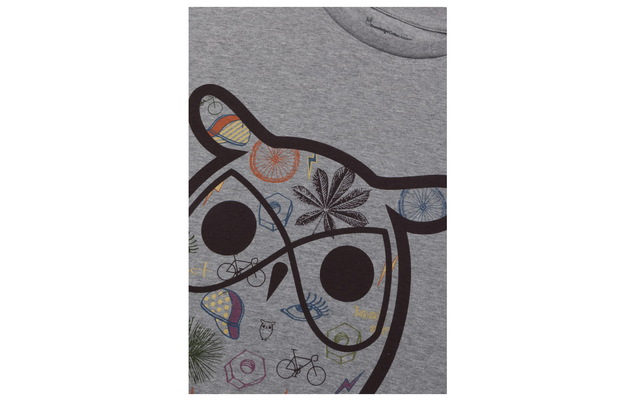 Apparel T Knowledge shirt Black Big Print Owl With Cotton Forrest Concept p77wqxH