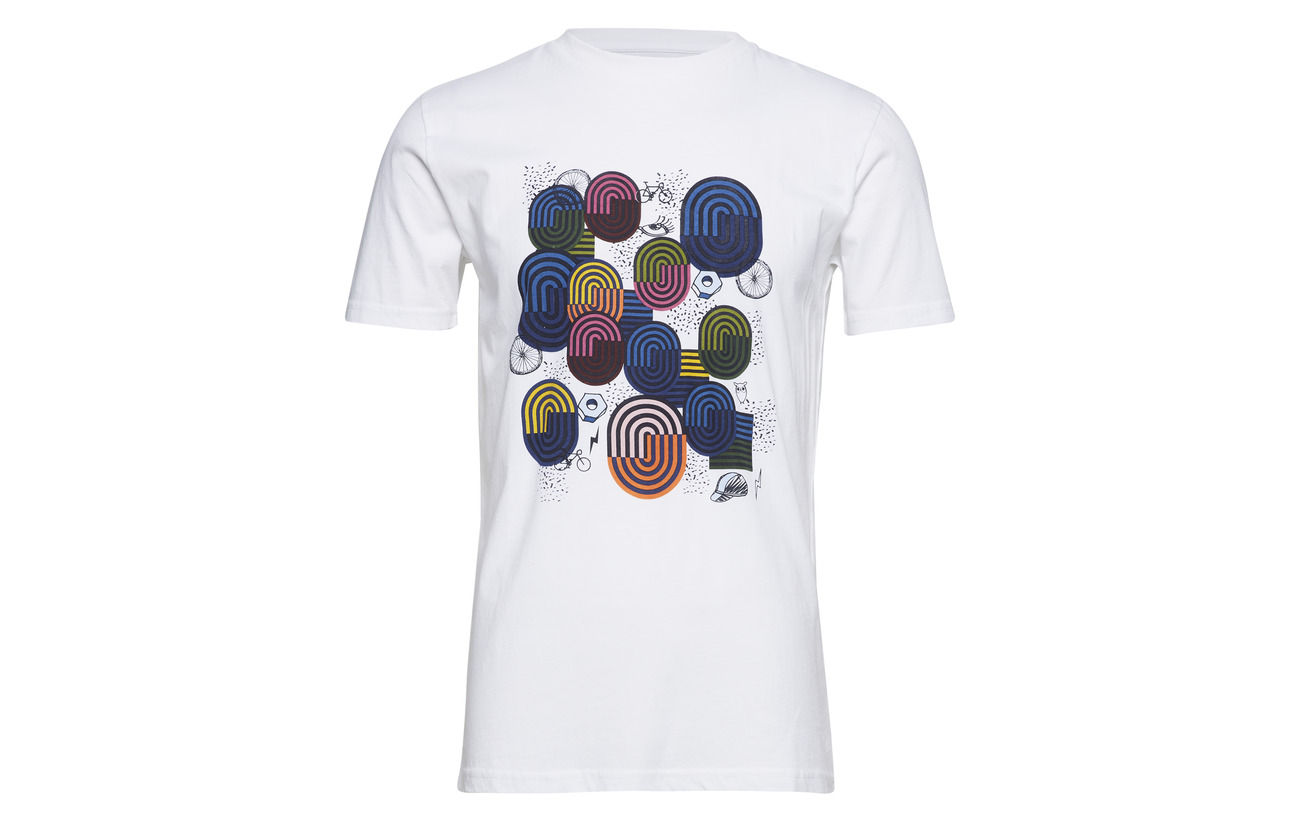 Gots Cotton Print shirt Bright White With Knowledge Apparel T Art Pq0nUw