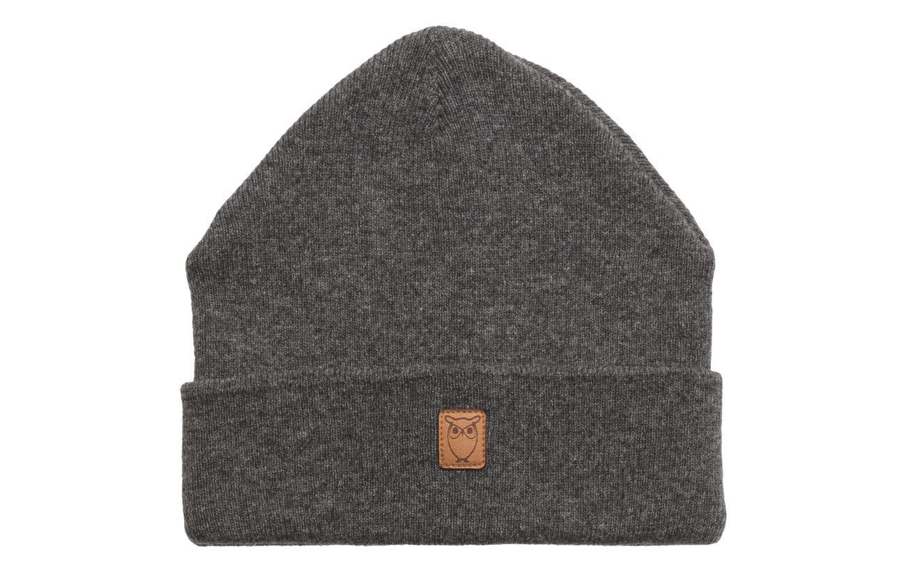 Cotton Beanie Apparel MelangeKnowledge Grey Organic WoolGotsdark rodWxBCe