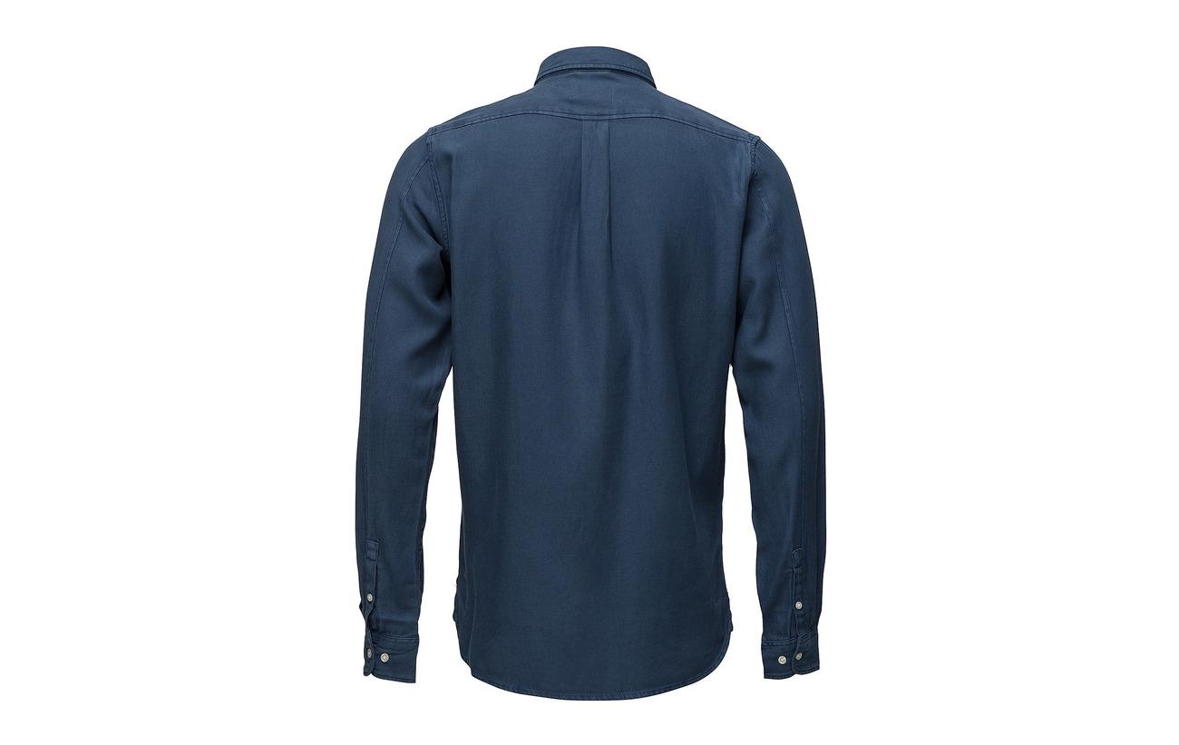 Knowledge Shirt Apparel Blue Cotton Insigna Twill vegan 1r1PAUx