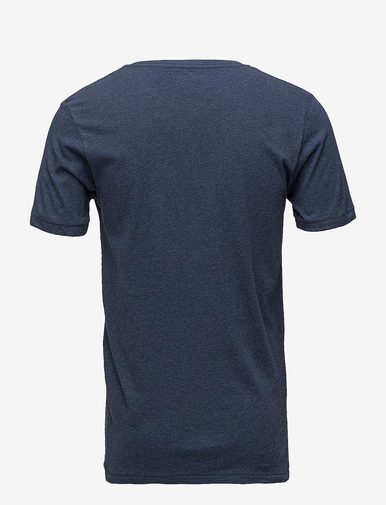 Knowledge Cotton Apparel - ALDER basic tee - GOTS/Vegan - basic t-krekli - insigna blue melange - 1
