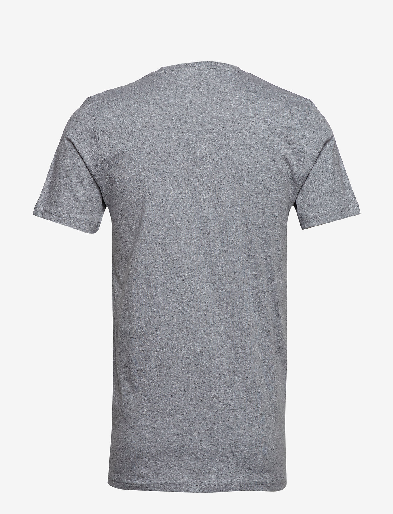 Knowledge Cotton Apparel ALDER owl chest tee - GOTS/Vegan - T-skjorter GREY MELANGE - Menn Klær