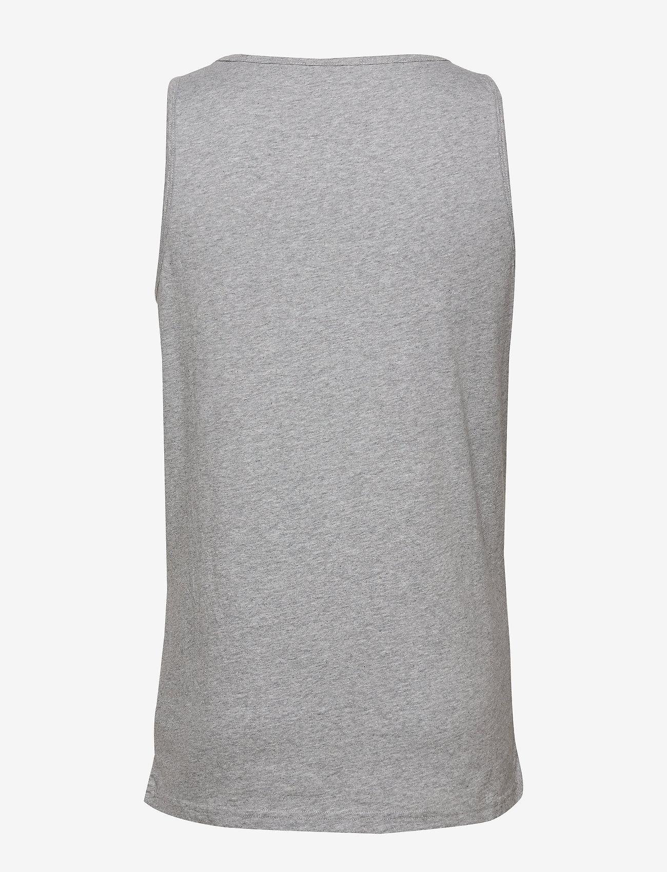 Knowledge Cotton Apparel PALM owl chest tank top - GOTS/Vega - T-skjorter GREY MELANGE - Menn Klær