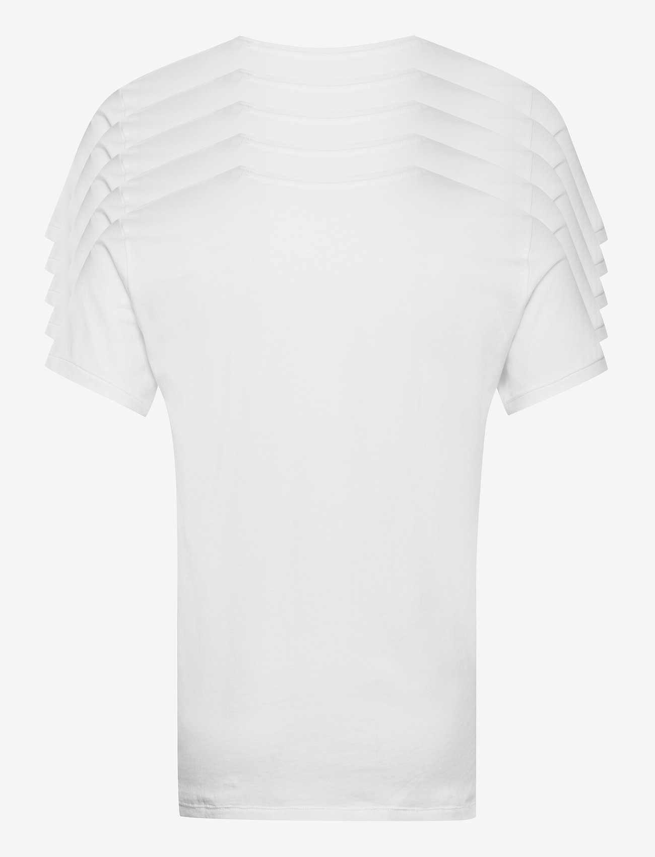 Knowledge Cotton Apparel - ALDER 5 pack basic tee - flat packe - basic t-shirts - bright white - 9