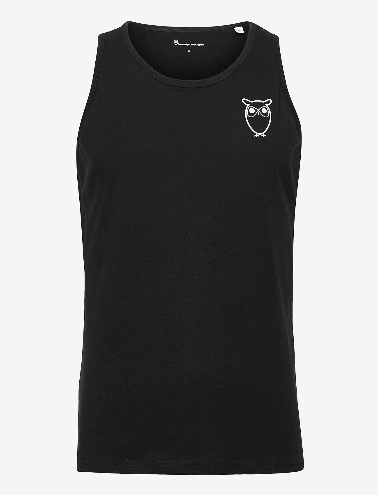 Knowledge Cotton Apparel - PALM owl chest tank top - GOTS/Vega - mouwenloze t-shirts - black jet - 0