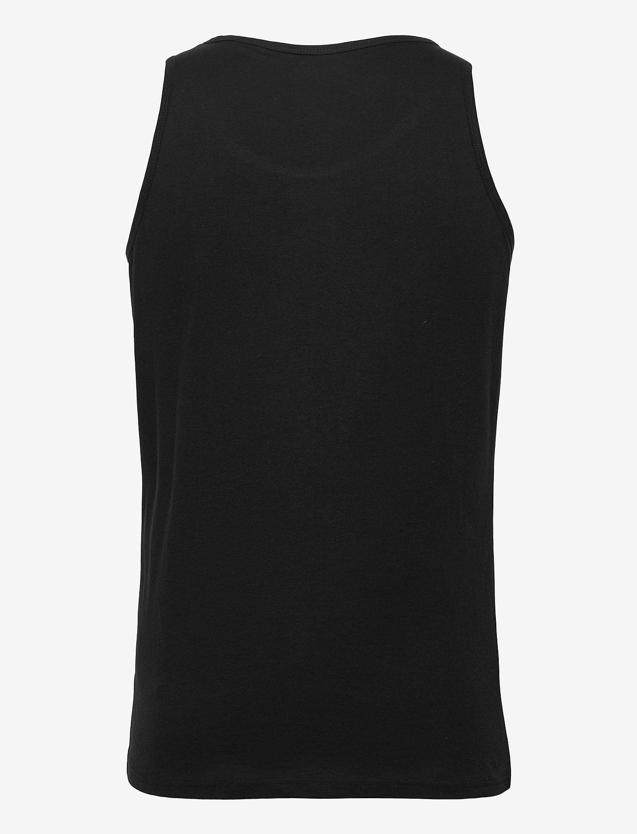 Knowledge Cotton Apparel - PALM owl chest tank top - GOTS/Vega - mouwenloze t-shirts - black jet - 1
