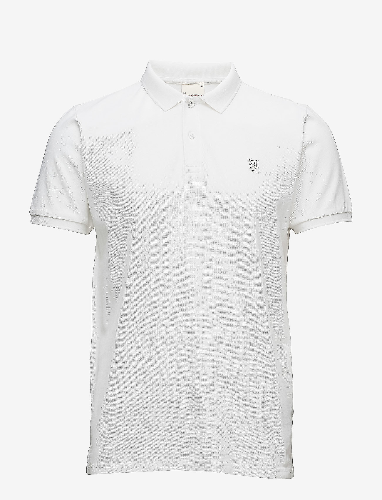 Knowledge Cotton Apparel - Pique Polo -  GOTS/Vegan - lyhythihaiset - bright white - 0