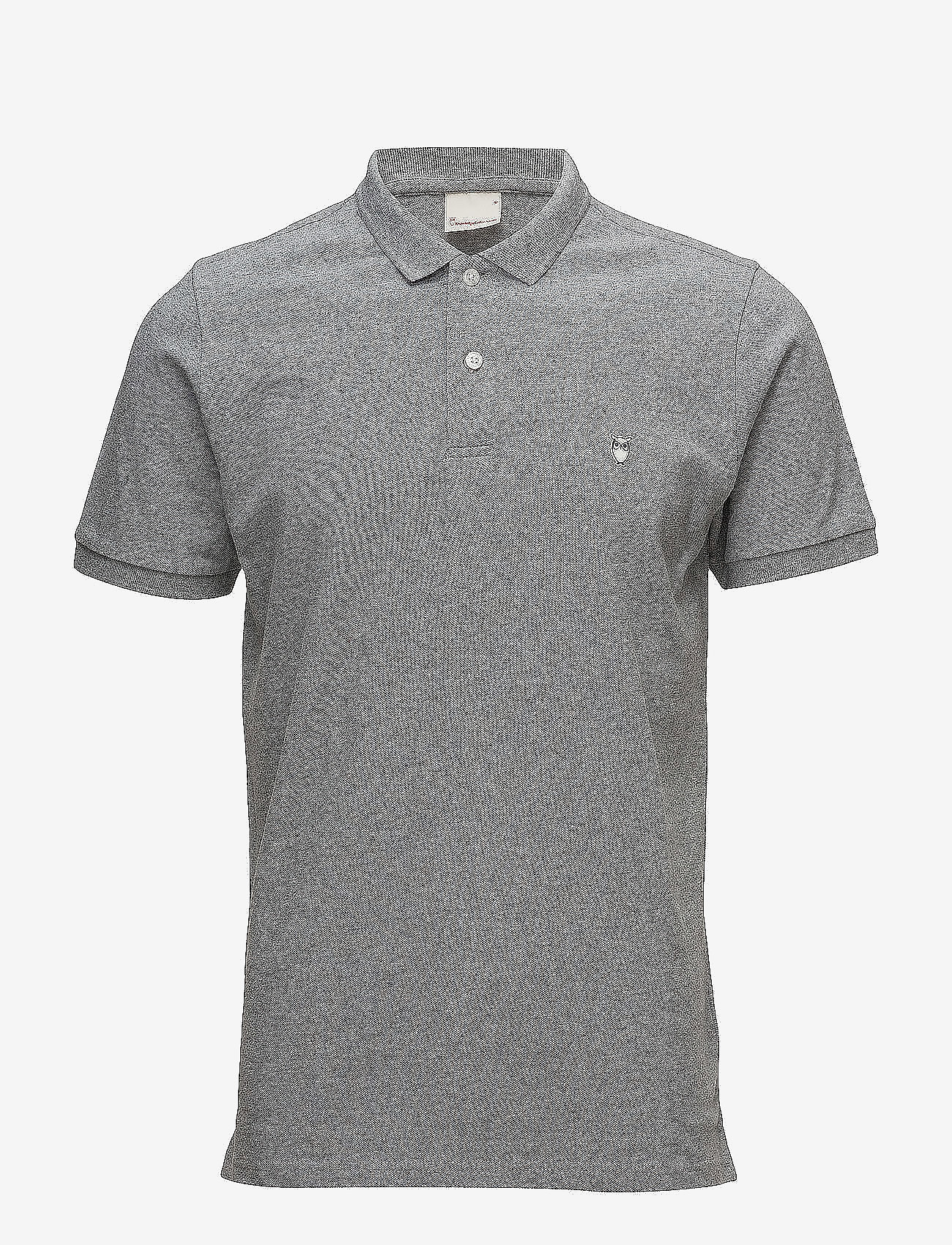 Knowledge Cotton Apparel - Pique Polo -  GOTS/Vegan - lyhythihaiset - grey melange - 0