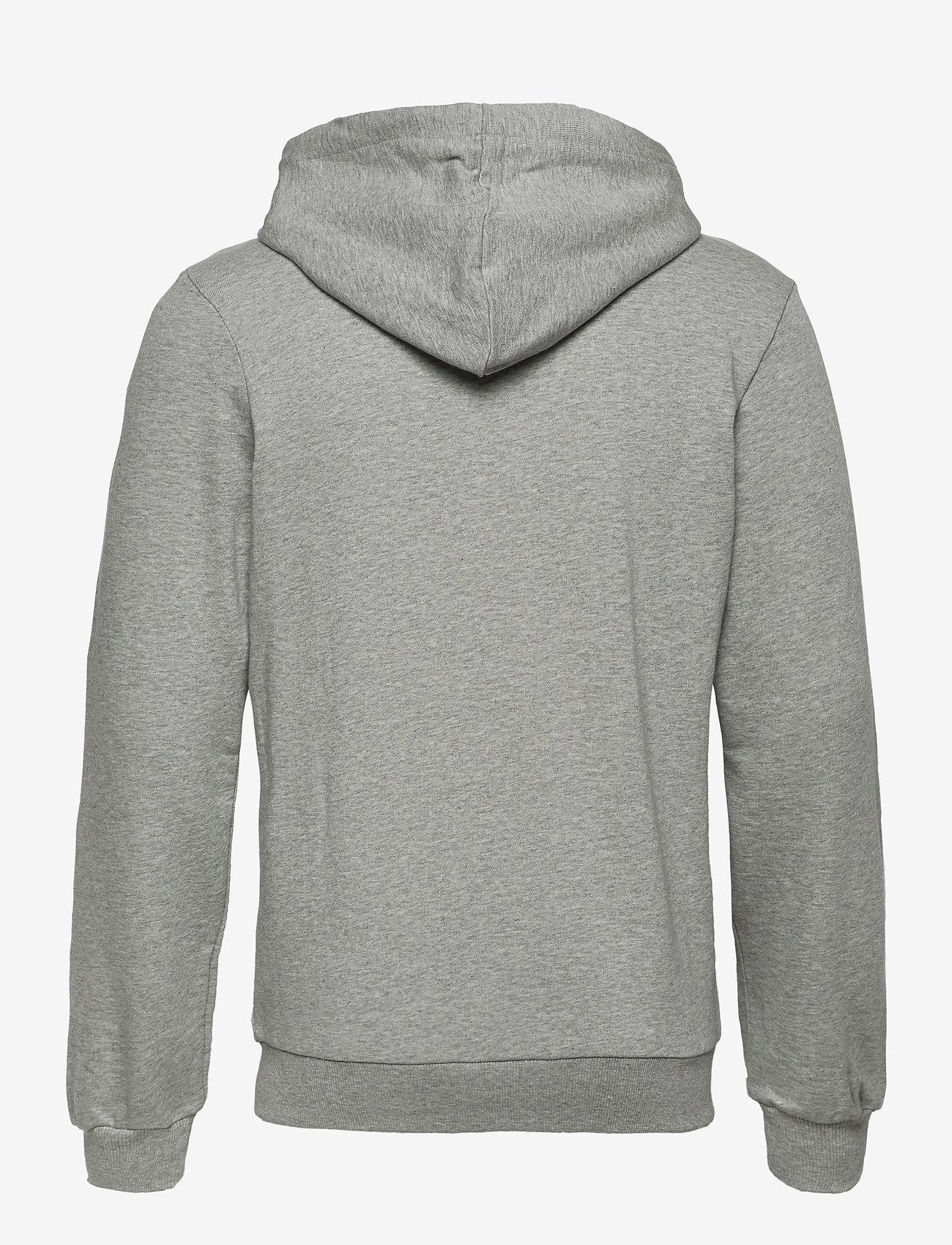 Knowledge Cotton Apparel - ELM knowledge transfer hood zip swe - basic sweatshirts - grey melange - 1