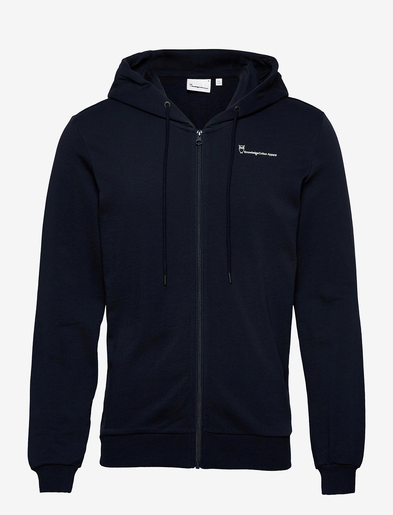 Knowledge Cotton Apparel - ELM knowledge transfer hood zip swe - basic sweatshirts - total eclipse - 0
