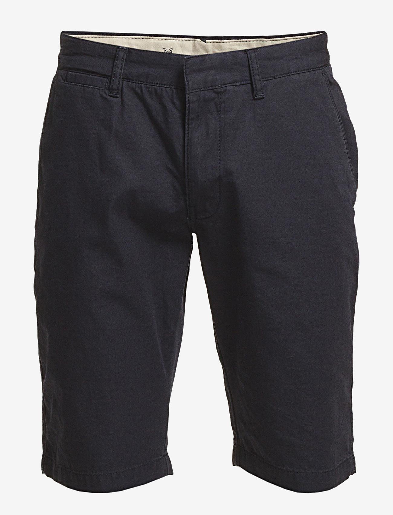 Knowledge Cotton Apparel - CHUCK chino shorts - apģērbs - total eclipse - 0