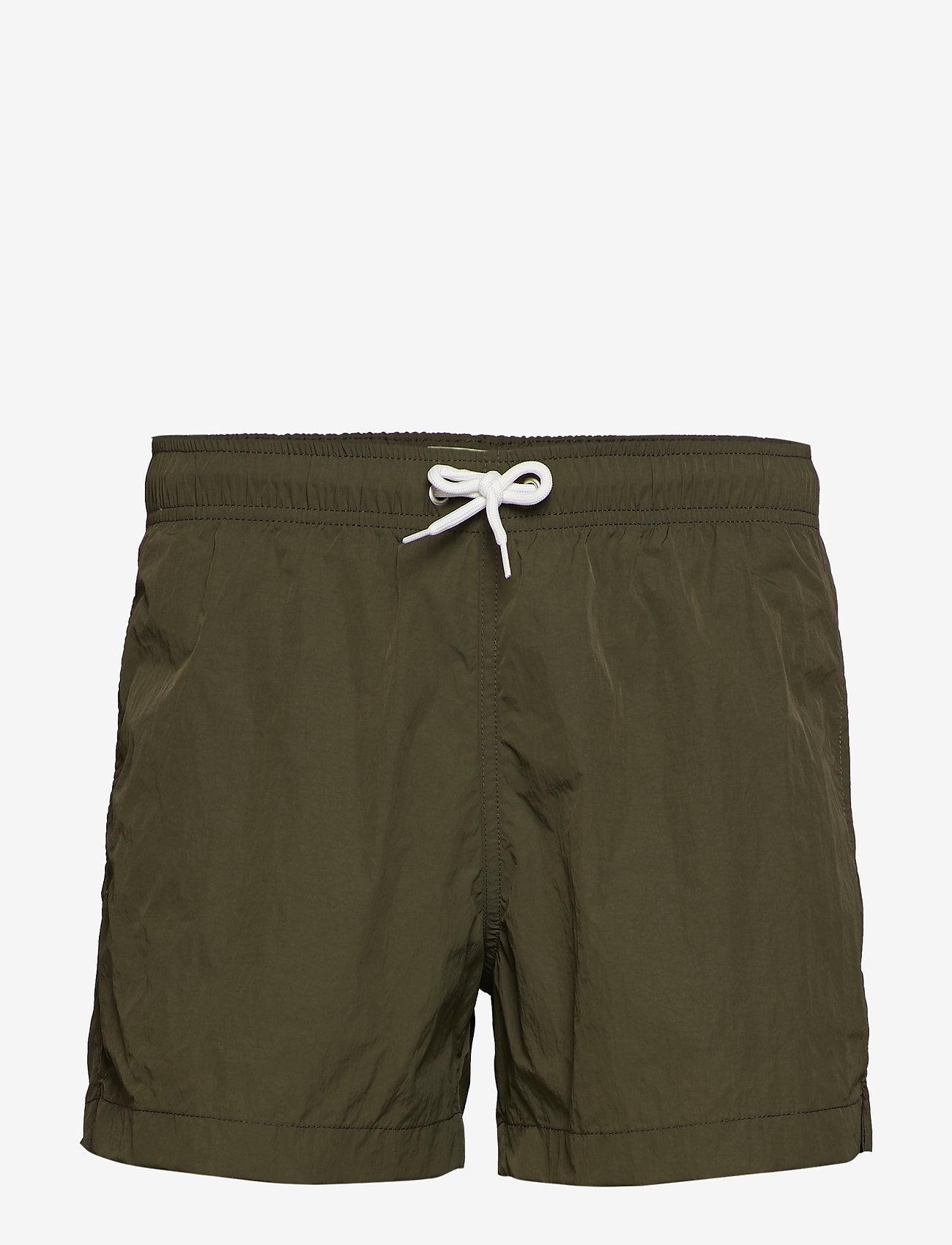 Knowledge Cotton Apparel - BAY swimshorts - VEGAN - badehosen - forrest night - 0