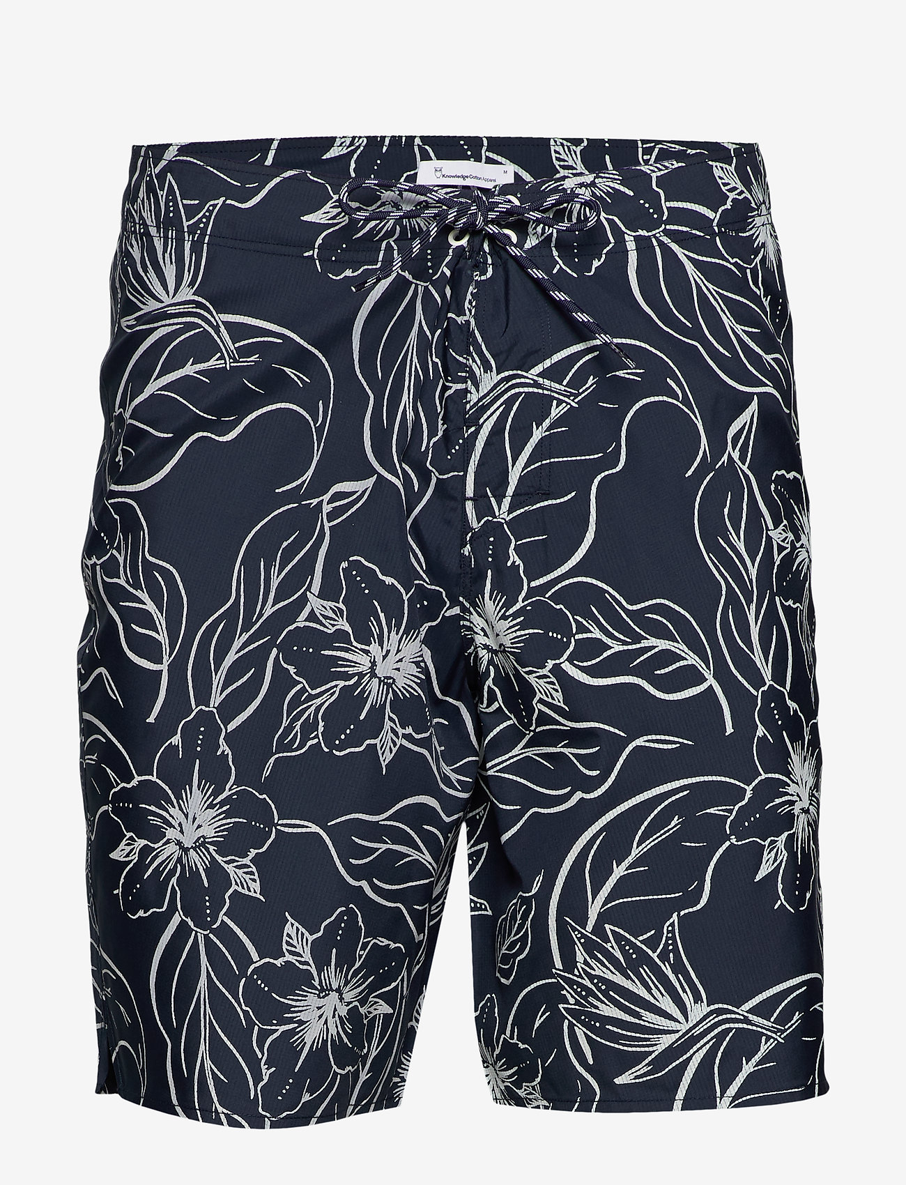 Knowledge Cotton Apparel - SEA flower swimshorts - badehosen - total eclipse - 0