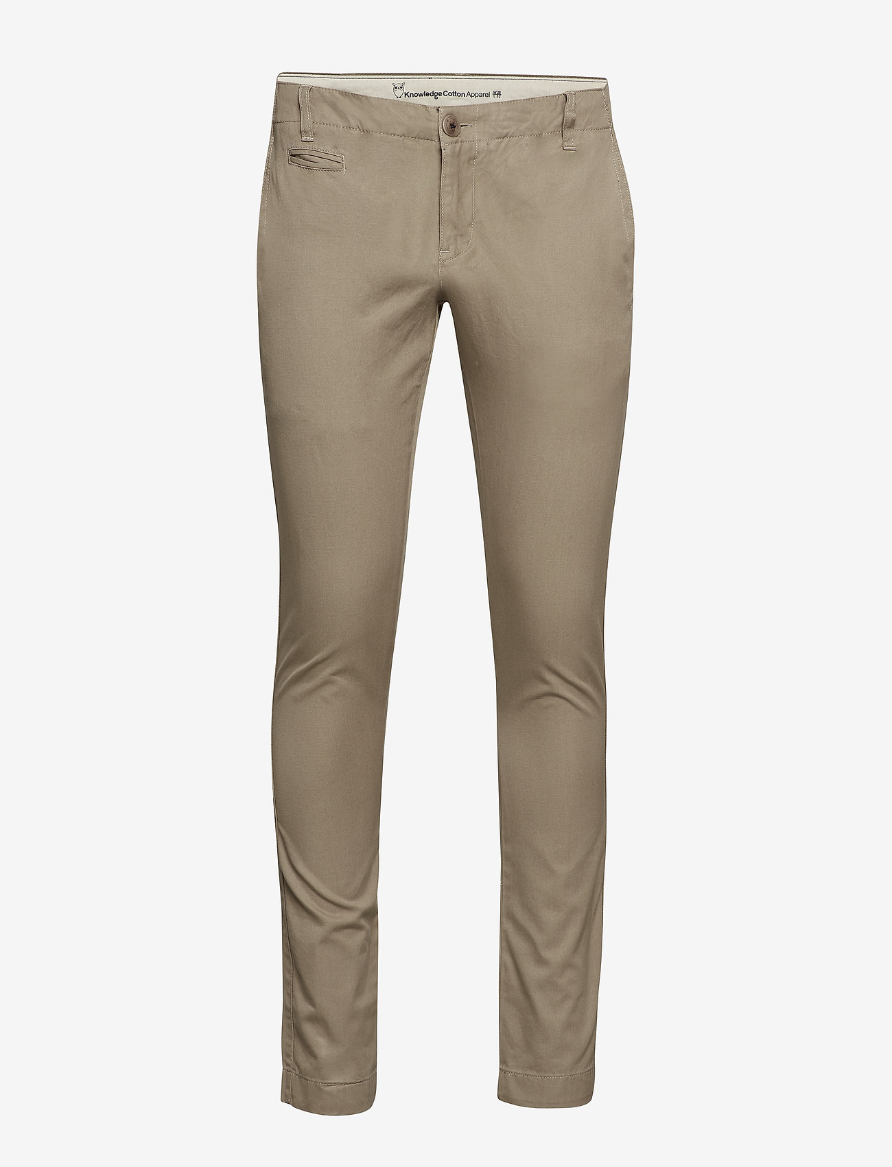 Knowledge Cotton Apparel - Twisted Twill Chinos - chinos - greige - 0