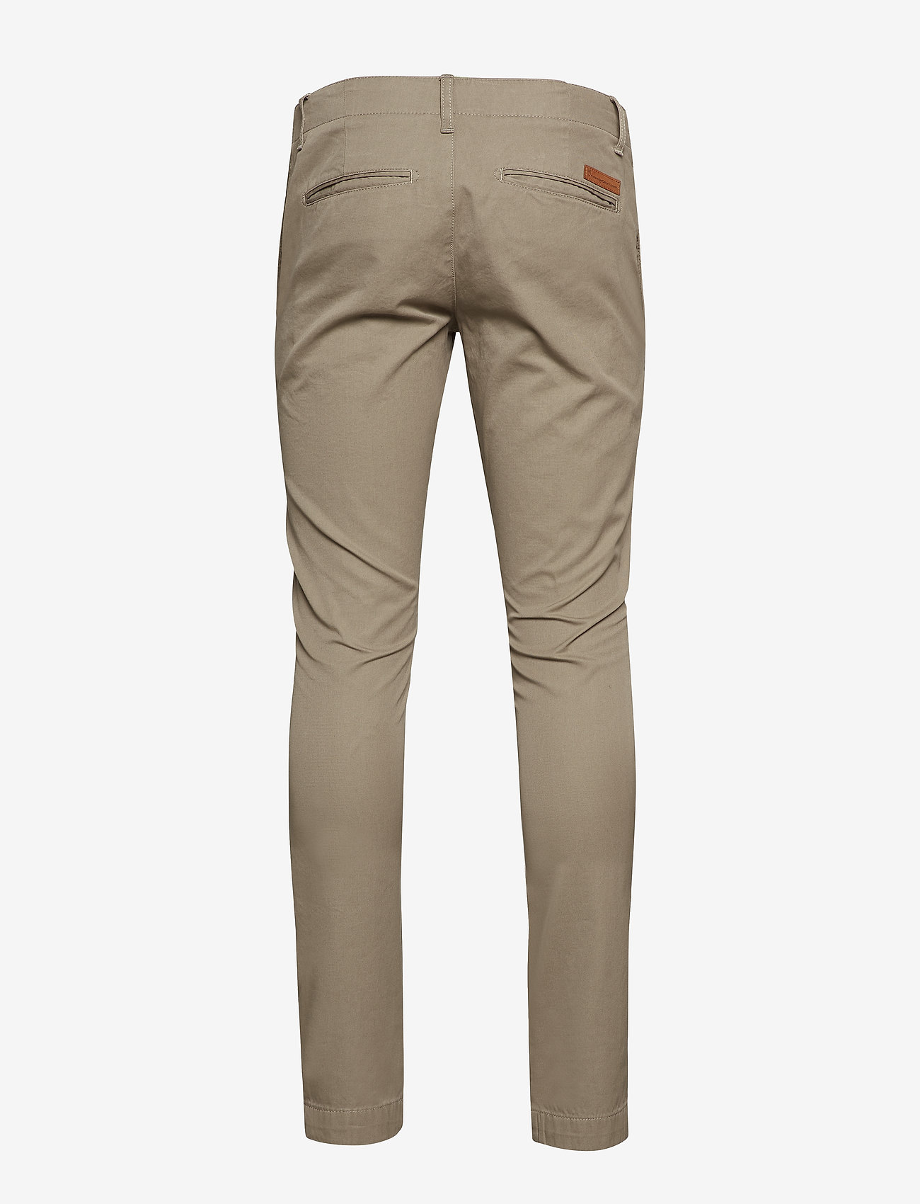 Knowledge Cotton Apparel - Twisted Twill Chinos - chinos - greige - 1