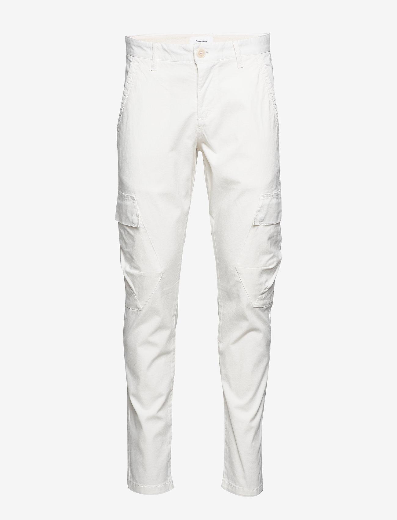 Knowledge Cotton Apparel - JOE trekking pant - GOTS/Vegan - cargobukser - star white - 0