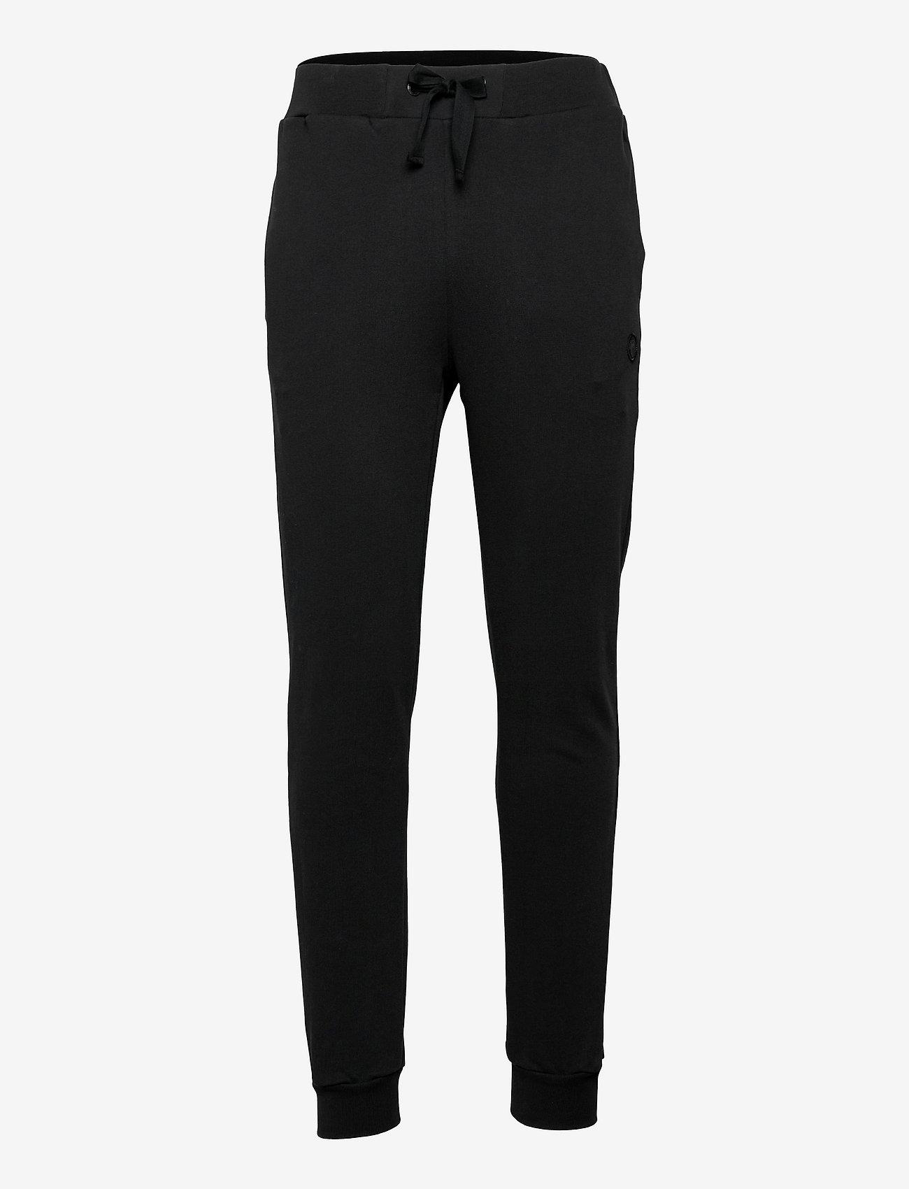 Knowledge Cotton Apparel - TEAK sweat pants - GOTS/Vegan - kleding - black jet - 0