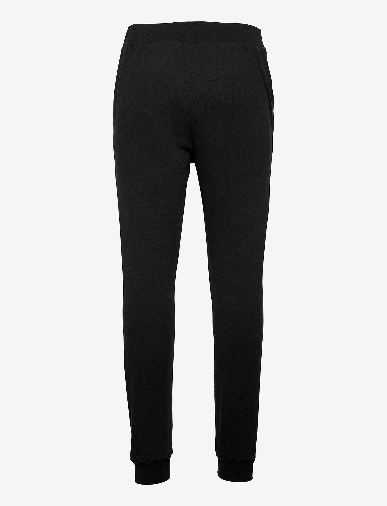 Knowledge Cotton Apparel - TEAK sweat pants - GOTS/Vegan - kleding - black jet - 1